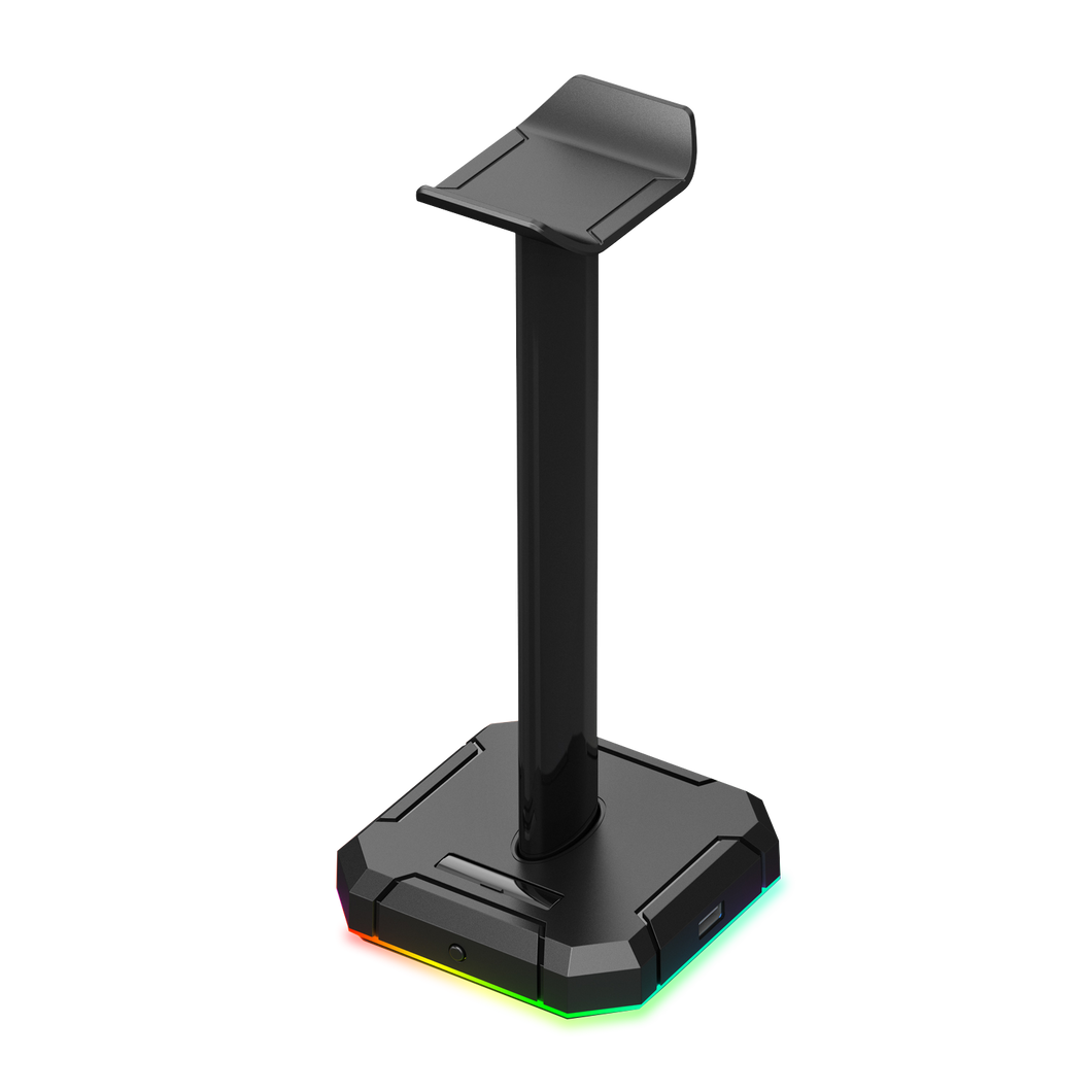 Redragon HA300 Scepter Pro Headset Stand RGB Backlit Gaming Headphone Stand with Aluminum Supporting Bar