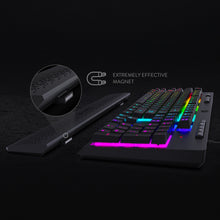 Redragon K512 SHIVA RGB Membrane Gaming Keyboard with Multimedia Keys, 6 Extra On-Board Macro Keys, Dedicated Media Control, Detachable Wrist Rest