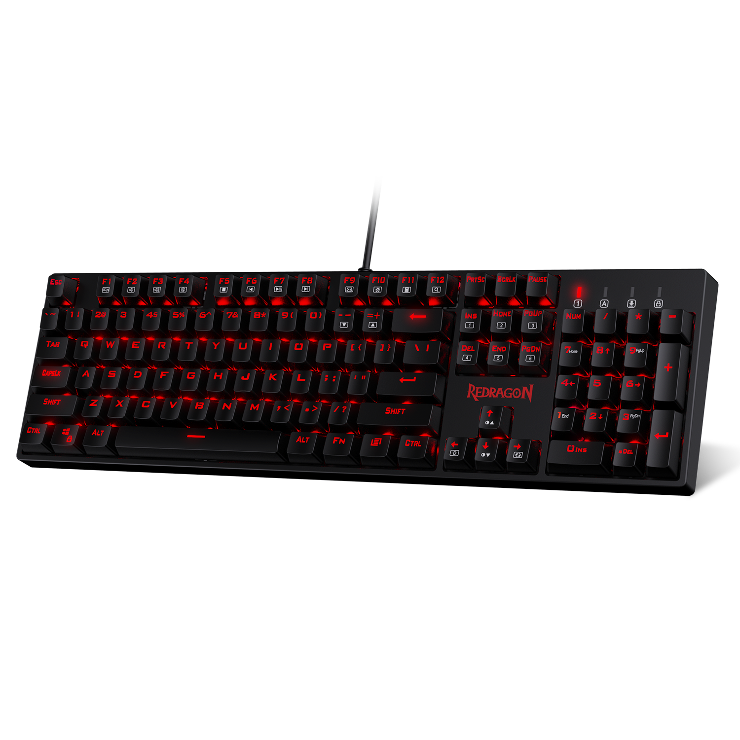 Redragon K582 Surara Red Led Backlit Mechanical Gaming