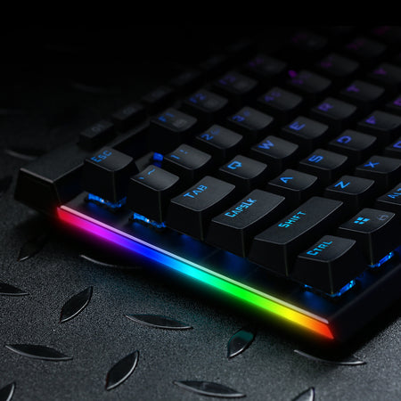 Redragon K580-PRO RGB Backlit Mechanical Gaming Keyboard 104 Keys Anti-ghosting with Macro Keys & Dedicated Media Controls, Onboard Macro Recording (Optical Brown Switches)