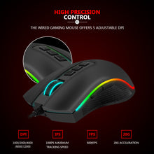 Redragon COBRA M711-FPS  Flawless sensor, LK Optical Switch , 24000DPI Gaming Mouse, 16.8 Million RGB backlight