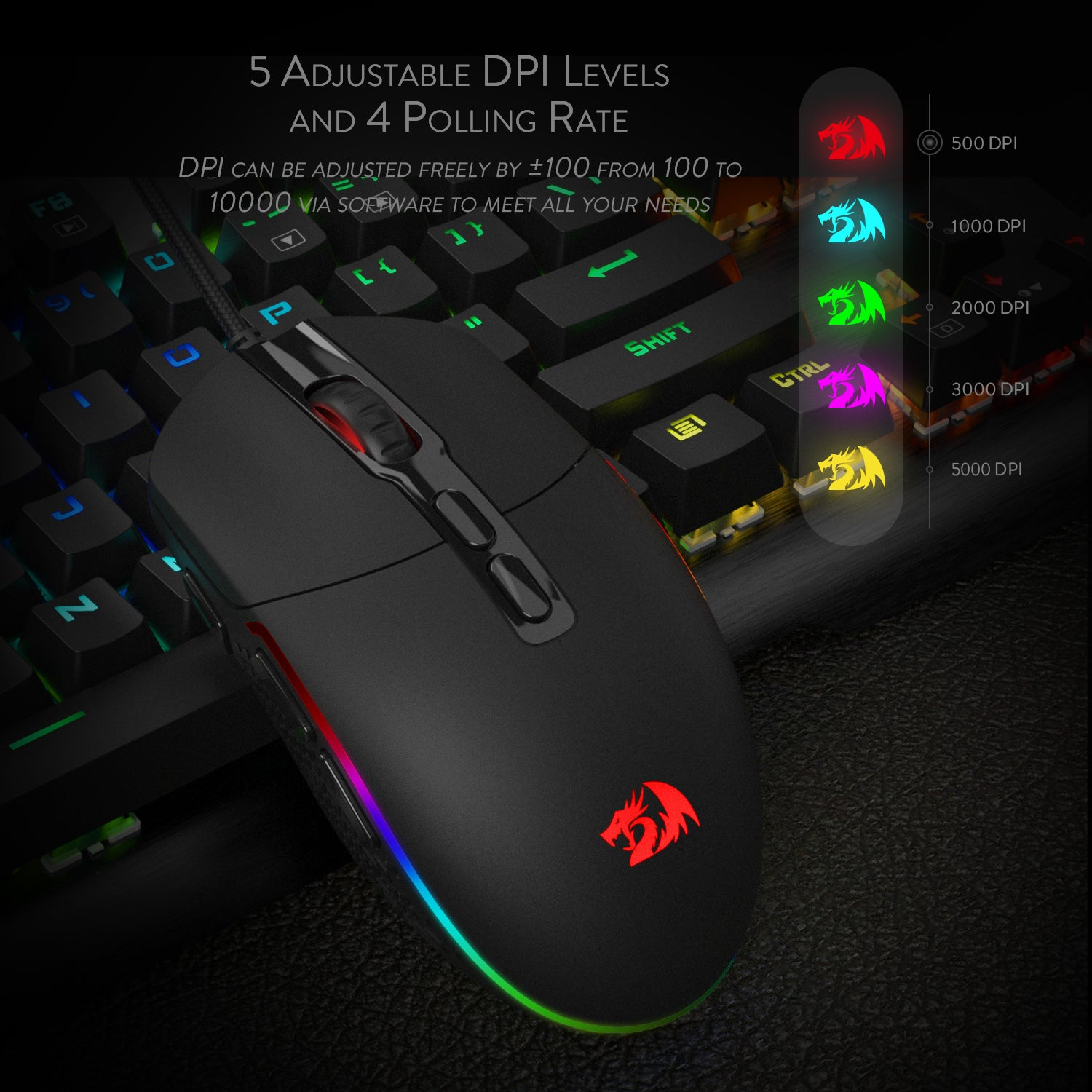 Redragon M719 INVADER Wired Optical Gaming Mouse – REDRAGON ZONE