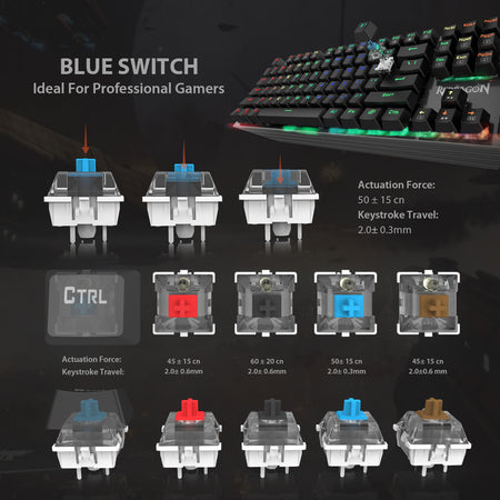 Redragon K570 PARTRYUSA RGB Backlit Mechanical Gaming Keyboard
