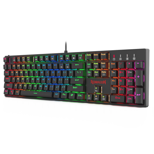 Redragon K582 SURARA RGB LED Backlit Mechanical Gaming Keyboard with104 Keys-Linear and Quiet-Red Switch