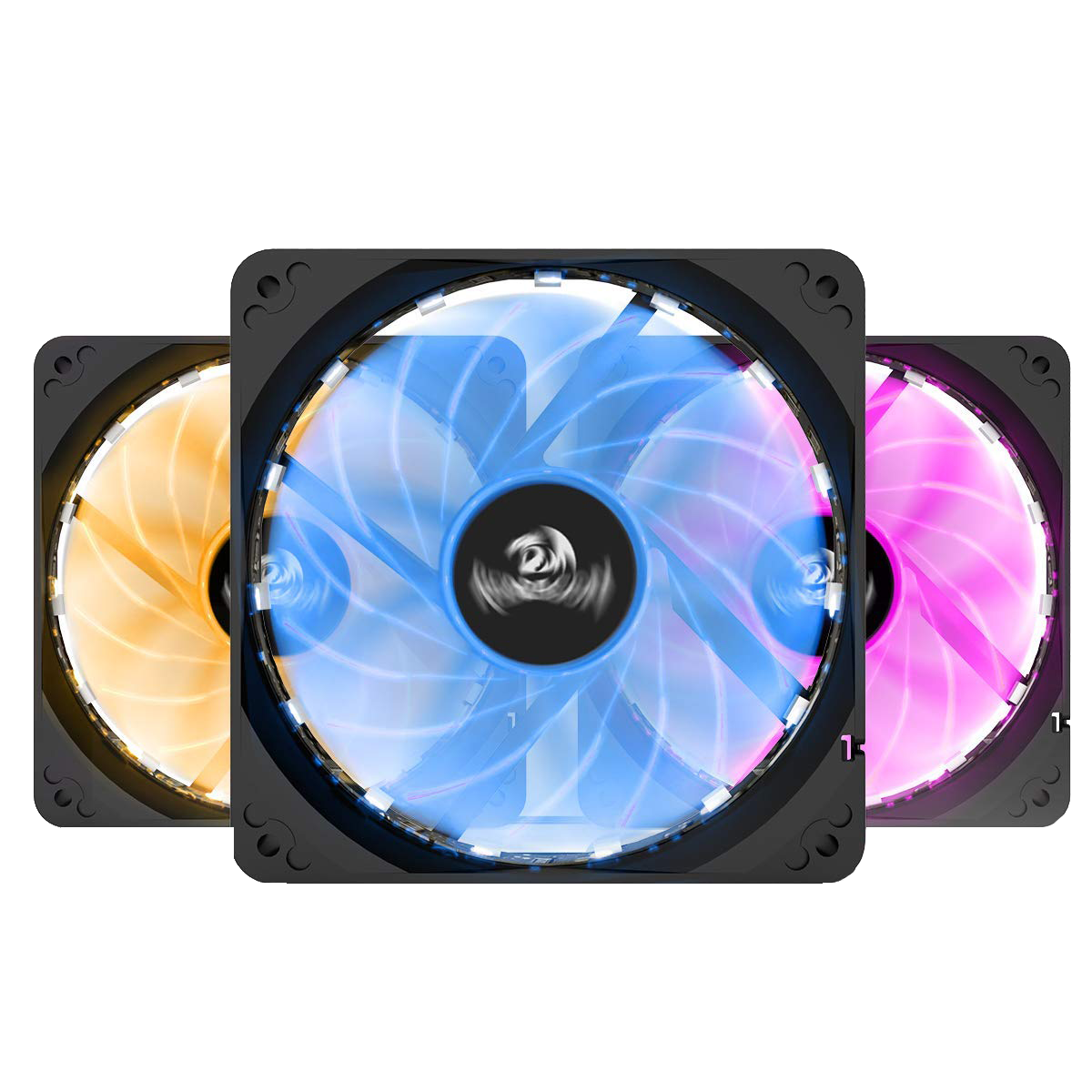 Computer PC Case RGB Cooling Fan LED 120mm Cooler with Remote Control Quiet Fan