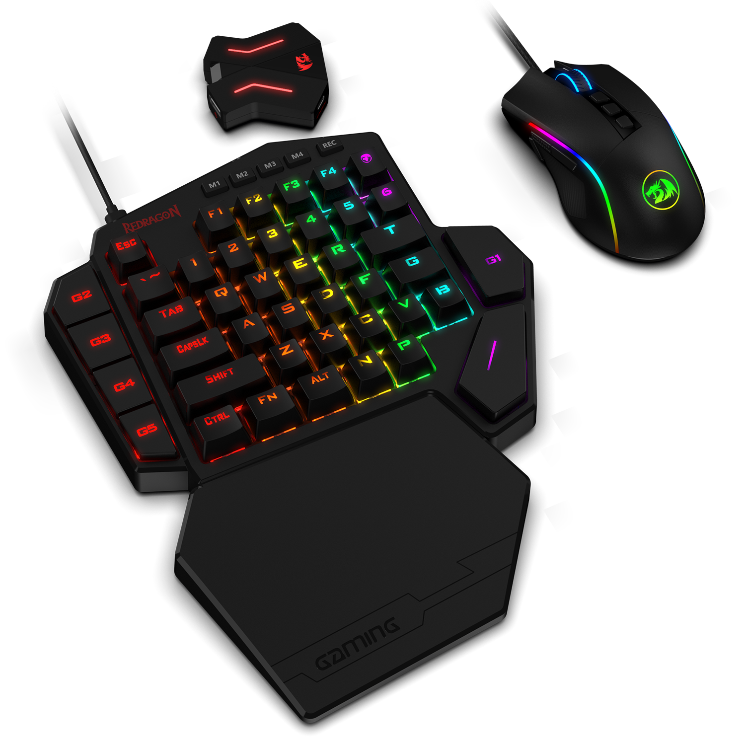 Redragon K585 One Handed Gaming Keyboard And M721 Pro Mouse Combo With Ga200 Converter For Xbox One Ps4 Switch Ps3 And Pc Blue Switch Redragon Zone