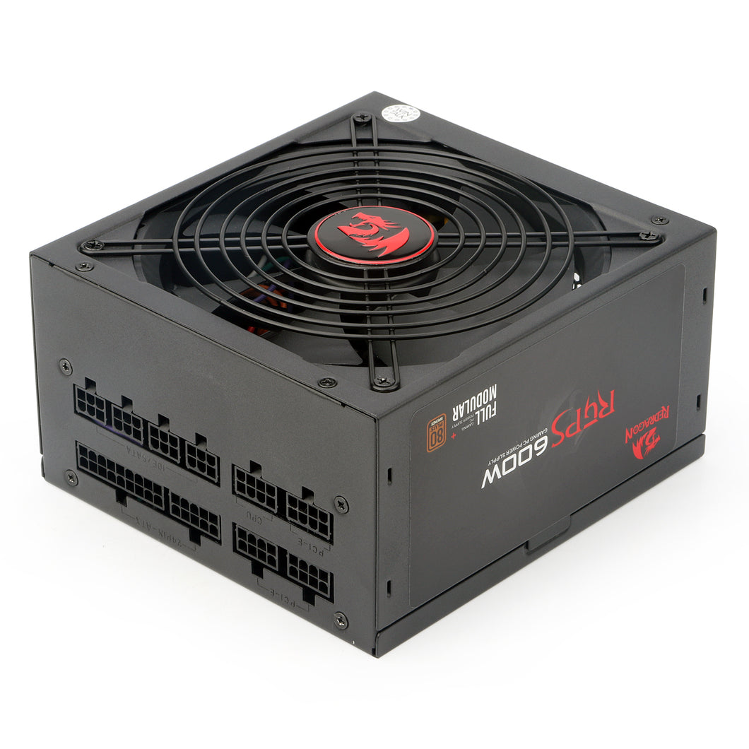 Redragon RGPS GC-PS003 600W Full Module Gaming PC Power Supply