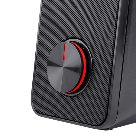 Redragon GS500 Stentor PC Gaming Speaker, 2.0 Channel Stereo Desktop Computer Speaker with Red Backlight