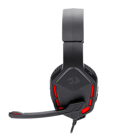 Redragon H220 THEMIS Wired Gaming Headset, Stereo Surround-Sound, Noise Cancelling Over-Ear Headphones with Mic, Volume Control, Red LED Light, Compatible with PC, PS4/3, Xbox One and Nintendo Switch