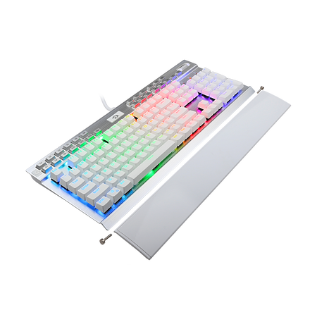 Redragon K550W RGB Yama 131 Key RGB LED Illuminated Backlit White Mechanical Keyboard