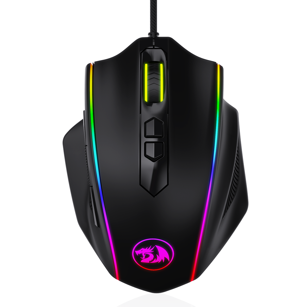 Redragon M720 Vampire RGB Gaming Mouse, 10,000 DPI Adjustable Wired Optical Gaming Mouse, Comfortable Grip Ergonomic with 8 Programmable Buttons