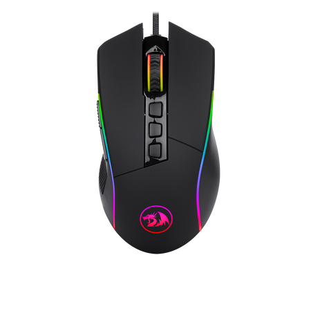 Redragon M721-Pro Lonewolf2 Gaming mouse, Wired Mouse RGB Lighting, 10 Programmable Buttons, 32,000 DPI Adjustable