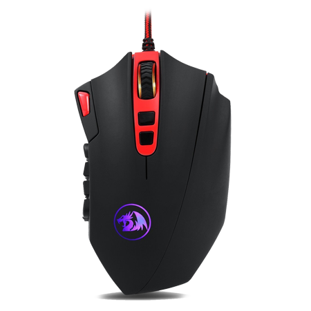 Redragon M901 Perdition 24000DPI MMO Mouse LED RGB Wired Gaming Mouse