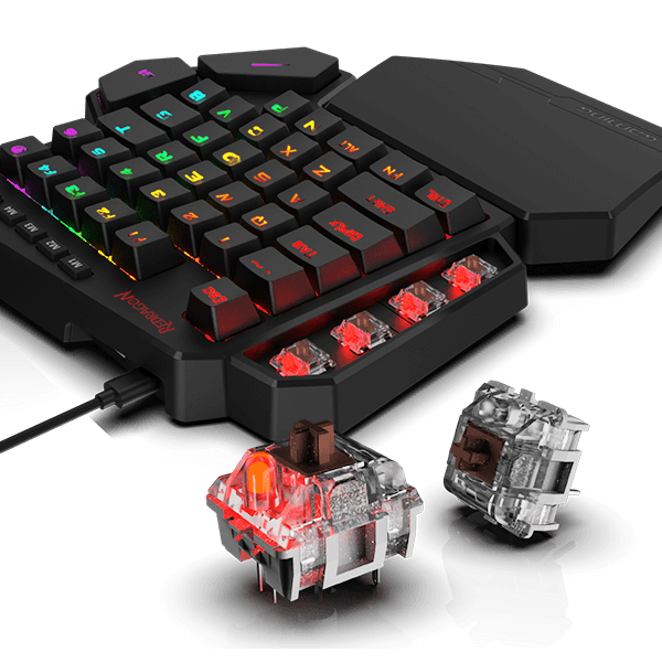 Redragon K585 DITI One-Handed RGB Mechanical Gaming Keyboard Brown Switches 7