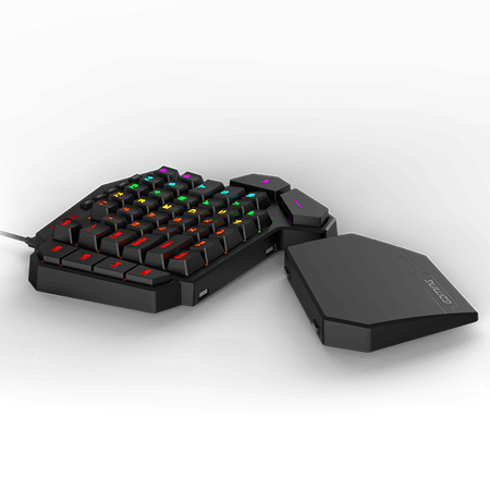 Redragon K585 DITI One-Handed RGB Mechanical Gaming Keyboard, Blue Switches, Professional Gaming Keypad with 7 Onboard Macro Keys, Detachable Wrist Rest, 42 Keys