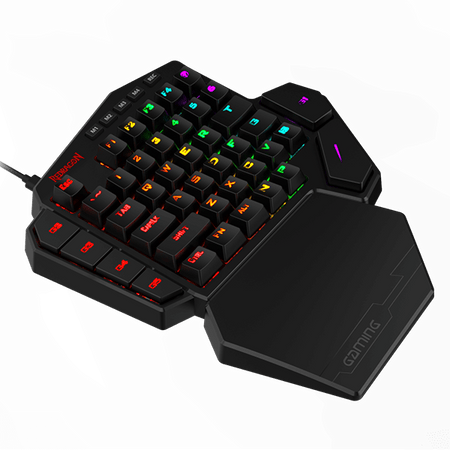 Redragon K585 DITI One-Handed RGB Mechanical Gaming Keyboard Brown Switches 5