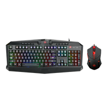 Redragon S101-1 Gaming Keyboard Mouse Combo, RGB LED Backlit 104 Keys USB Wired Ergonomic Wrist Rest Keyboard, Programmable 6 Button Mouse for Windows PC Gamer - [Keyboard Mouse Set]