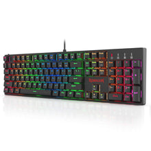 Redragon K582-PRO Mechanical Gaming Wired Keyboard with Ultra Faster Optical Blue Switches, Tactile & Highly Precision, RGB Backlit, 104 Keys Standard for Windows PC Gamers