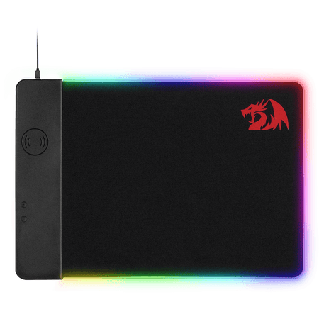 Redragon P025 Qi 10w Fast Wireless Charging RGB Backlit Mouse Pad