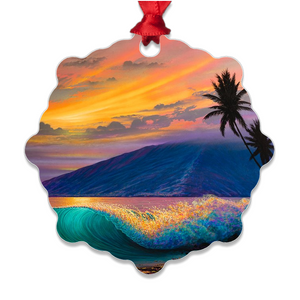 """Kihei Dream"" Metal Ornaments"