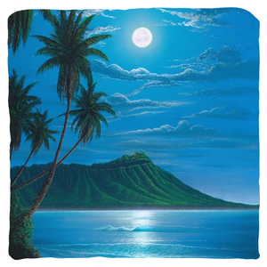 """Diamond Head Moon"" Throw Pillows"