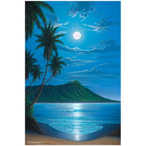 """Diamond Head Moon"" Acrylic Prints"