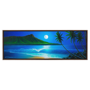 """Blue Hawaii"" Framed Traditional Stretched Canvas"