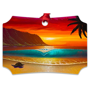 """North Shore Dream"" Metal Ornaments"