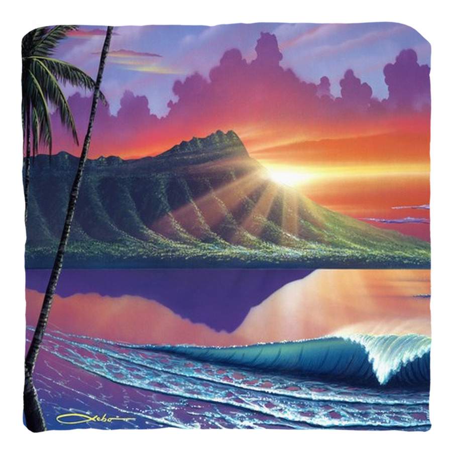 """Early Waikiki"" Throw Pillows"