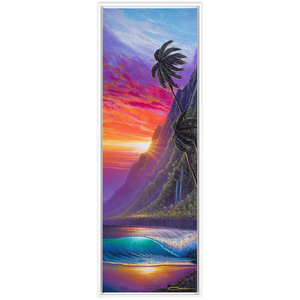 """Sunrise Over Kualoa"" Framed Traditional Stretched Canvas"