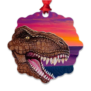 """Jurassic Paradise"" Metal Ornaments"