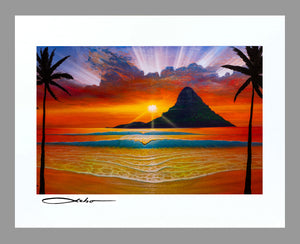 """Another Day in Paradise"" 11""x 14"" Matted Print"