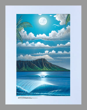 """Diamond Head Summer"" 11"" x 14"" Matted Print"