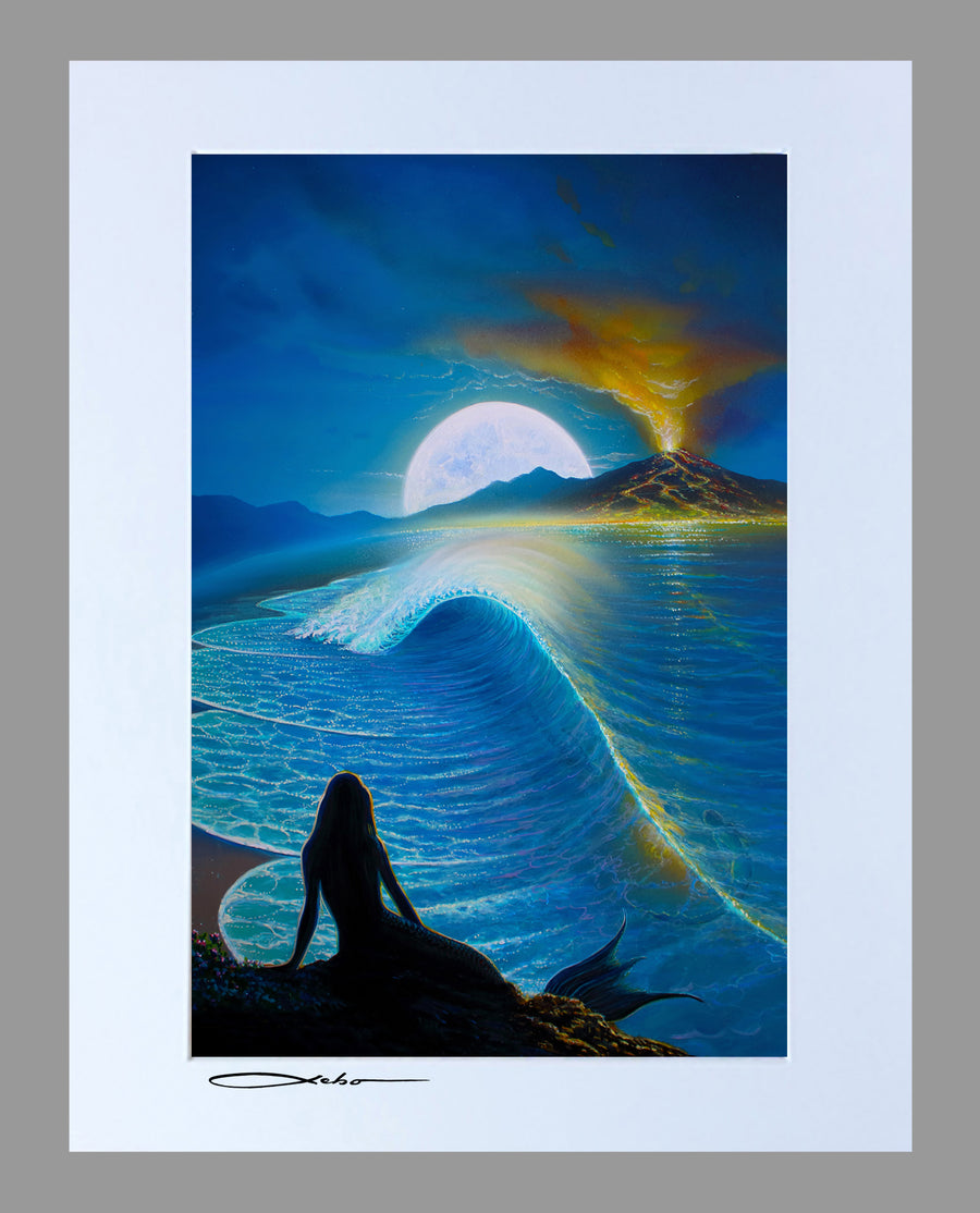 """Moonlit Mermaids"" 11"" x 14"" Matted Print"