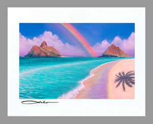 """Over the Rainbow"" 11"" x 14"" Matted Print"