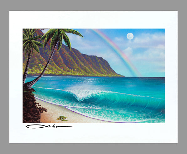"""Waialua Wednesday"" 11"" x 14"" Matted Print"
