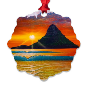 """Another Day in Paradise"" Metal Ornaments"