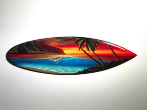 """Aloha Nui Loa"" 24"" Original Painting on Mini Surfboard"