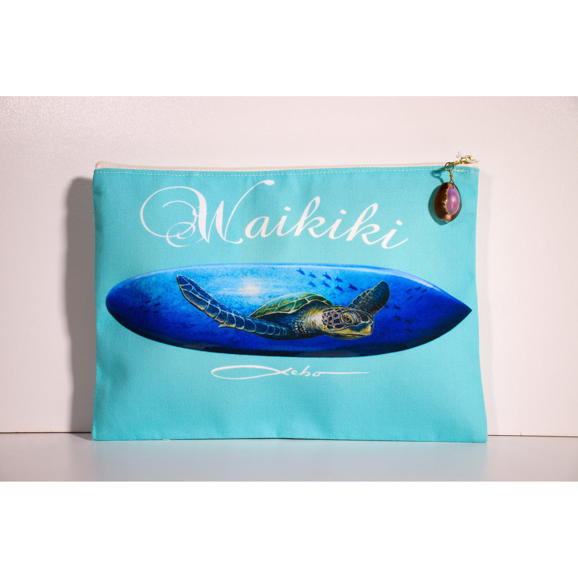 """Blue Waikiki"" Accessories Pouch - SeboArt.com"