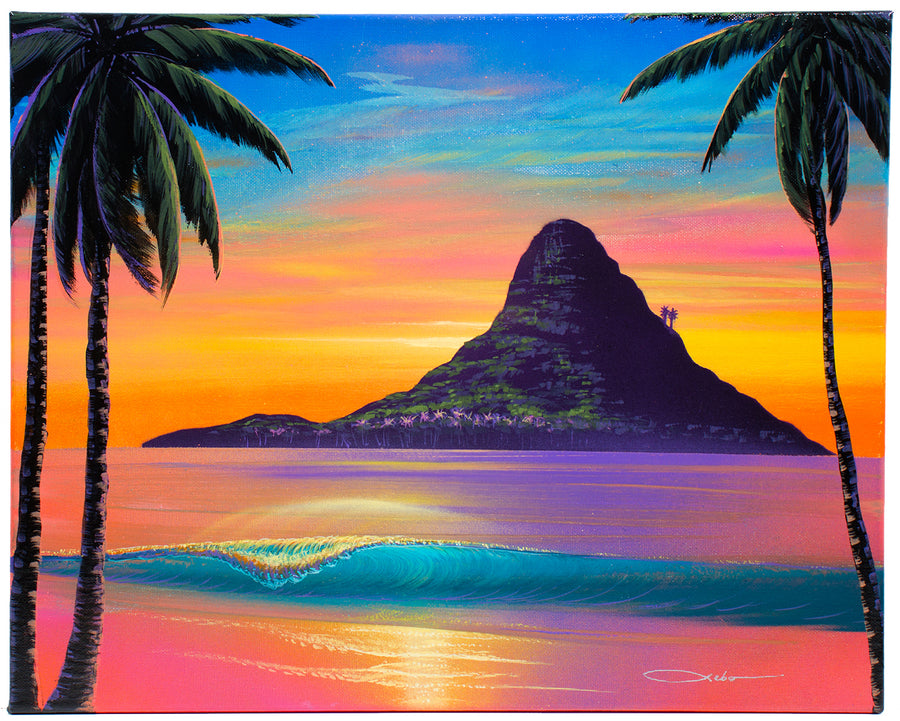 """Beauty of Chinaman's Hat"" Original Painting on 16"" x 20"" Canvas"