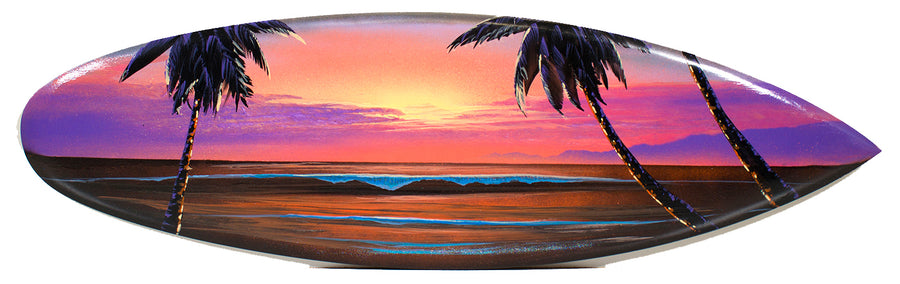 """Beauty of the Island"" Original Paitning on Mini Surfboard"