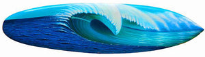 "40"" ""Blue Rush"" Original Painting on Mini Surfboard"