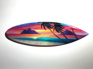 """Cherish"" 24"" Original Painting on Mini Surfboard"
