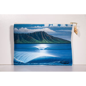 """Diamond Head Summer"" Accessories Pouch - SeboArt.com"