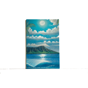 """Diamond Head Summer"" Wood Block Print - SeboArt.com"