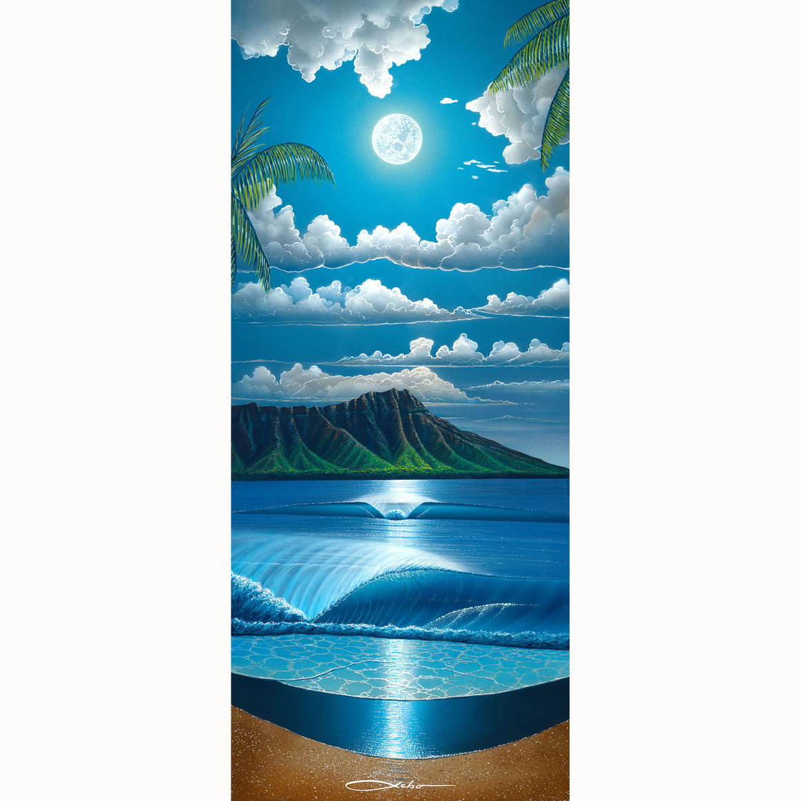 """Diamond Head Summer"" Limited Edition Fine Art Giclee - SeboArt.com"