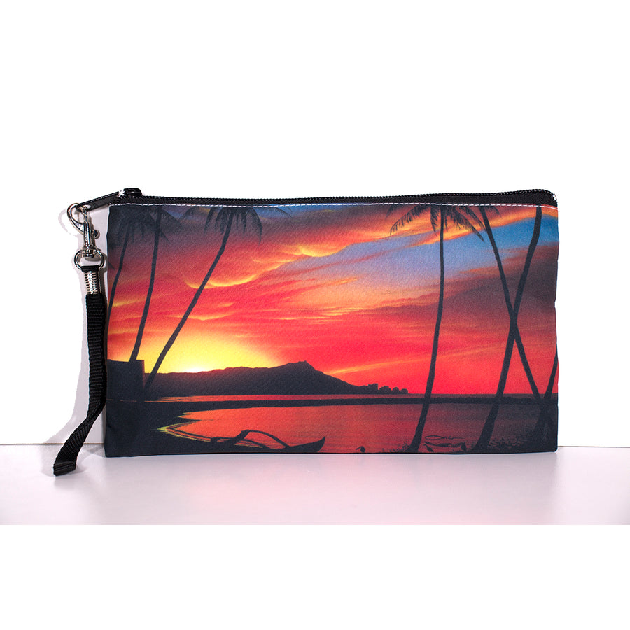 """Diamond Head Sunrise"" Clutch Bags - SeboArt.com"