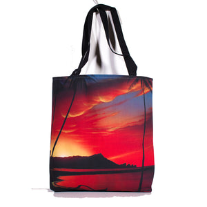 """Diamond Head Sunrise"" Tote Bag - SeboArt.com"