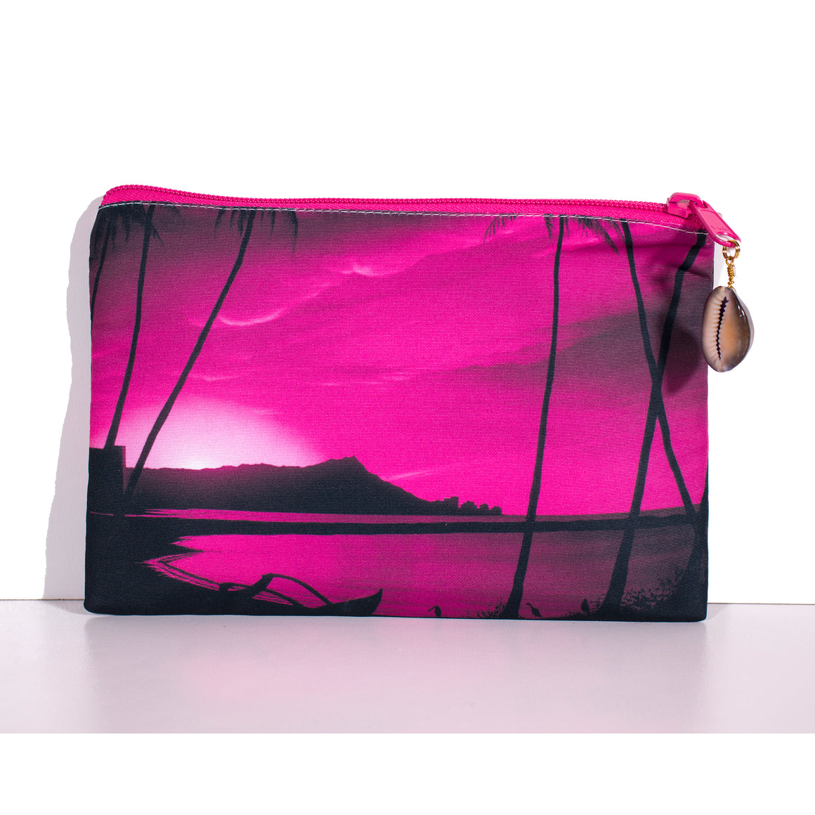 """Diamond Head Pink Pink Sunrise"" Clutch Bag - SeboArt.com"