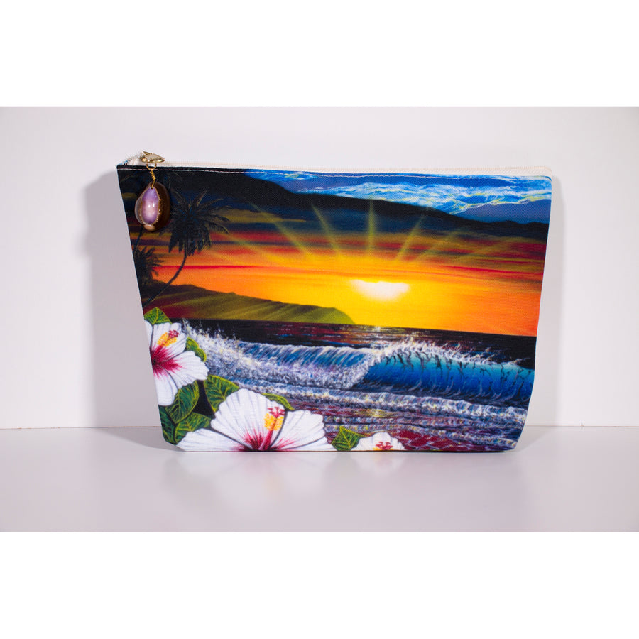 """Ehukai Beach"" Accessories Pouch - SeboArt.com"